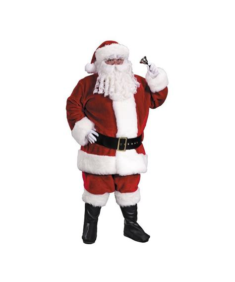 santa suit christmas costume premium plush red men costume