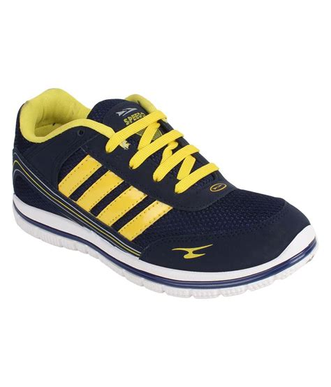 i sports speedo blue yellow sport shoes price in india
