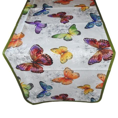 runner per tavolo runner per tavolo fantasia farfalle verde dolce casa