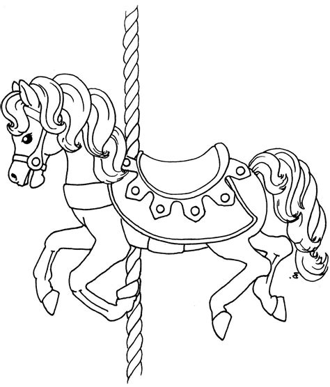 coloring pages of carousel horses carousel coloring page free coloring pages on