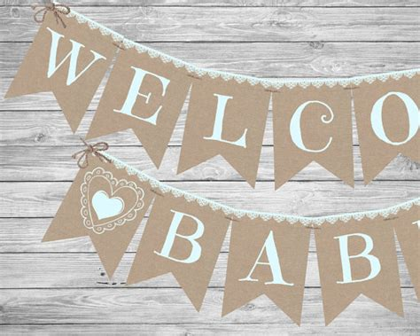 printable rustic banner rustic boy baby shower banner printable by magicpartydesigns