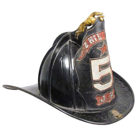 fire helmet design history rare greyhound finial cairns leather fire helmet