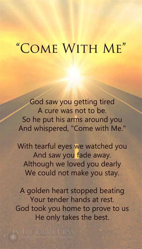 heaven poem memorial sympathy quotations poems verses