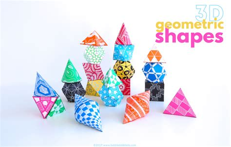 How To Make 3d Shapes Out Of Paper - math idea 3d geometric shapes babble dabble do