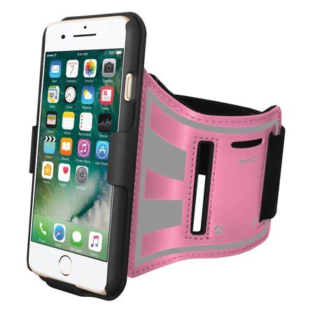 iphone 8 plus sports armband light weight sweatproof running bike armband with built in