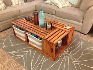 crate coffee table livingston way diy wine crate coffee table