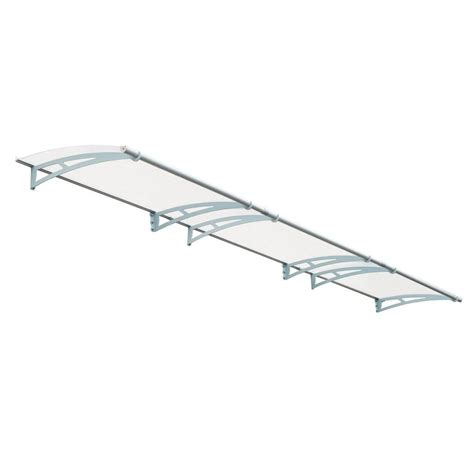 clear awning palram aquila 4500 clear awning 703411 the home depot