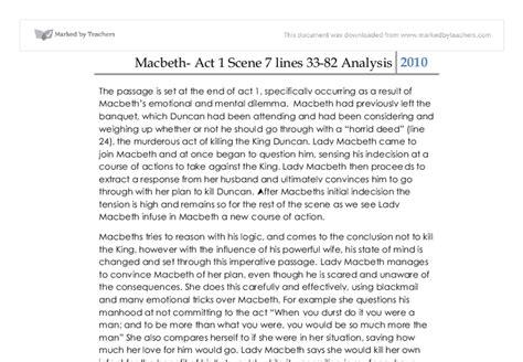 Macbeth Act 1 7 Essay by Macbeth Act 1 7 Essay