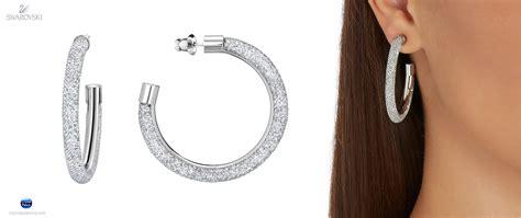 5186732 swarovski jewelry stardust deluxe hoop pierced