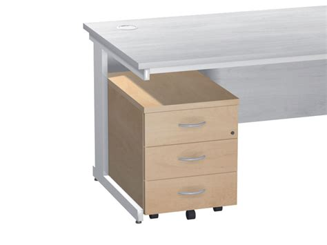 Shallow Drawer by Everyday Mobile Pedestal 3 Shallow Drawers