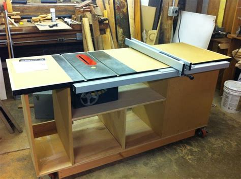 table saw plans table saw mobile cart plans