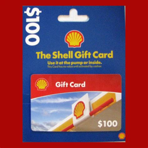 Shell Gas Cards Gift - gift card gas gasoline 100 with activation reciept save money on gas