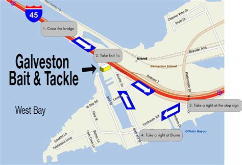 texas bank fishing map 7 galveston bait and tackle