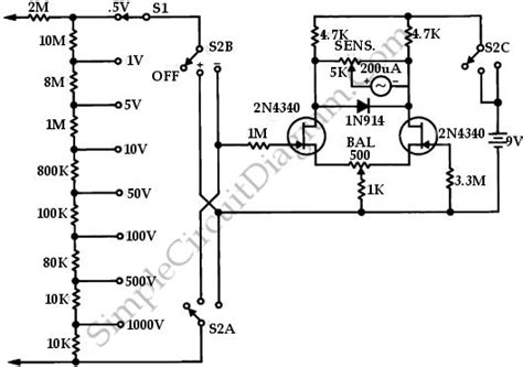 schematic diagram of voltmeter rf voltmeter schematic rf free engine image for user