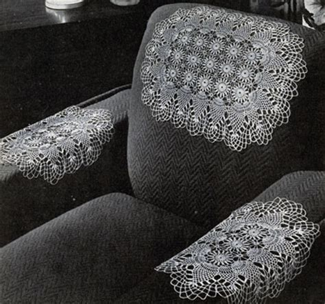 Crochet Arm Chair Covers Free Patterns by Pineapple Chair Set Pattern 7856 Crochet Patterns