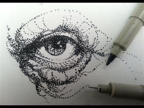 how to draw amp shade with stippling stipples or dots