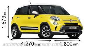 Length Of Fiat 500l Dimensions Des Voitures Fiat Longueur X Largeur X Hauteur