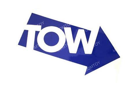 Stiker Jdm Towing Warna Biru 2 blue tow arrow pointer stickers die cut vinyl decals for car tow hook bar ebay