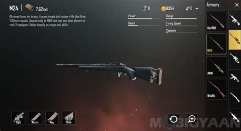 weapons  pubg mobile game