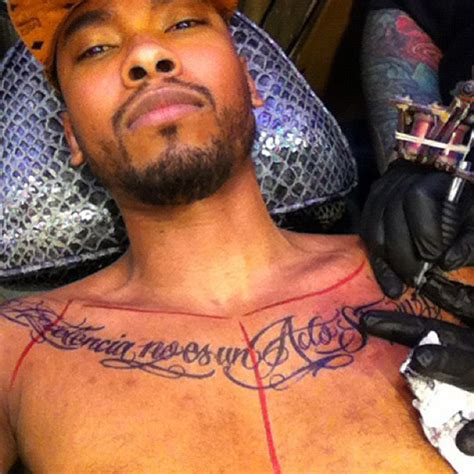 trey songz chest tattoo miguel shows new chest rap up