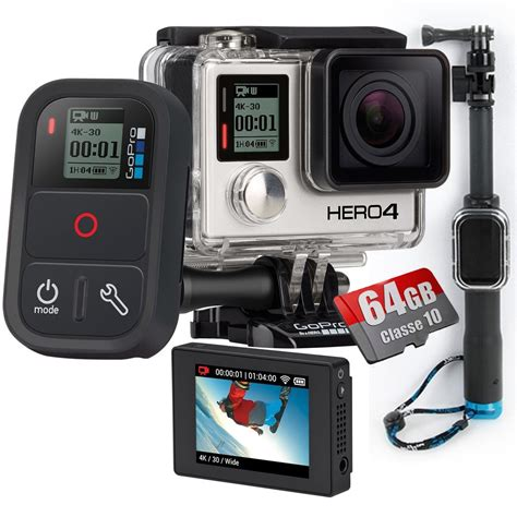Gopro 4 Black Edition Malaysia kit gopro 4 black lcd 64gb controle remoto