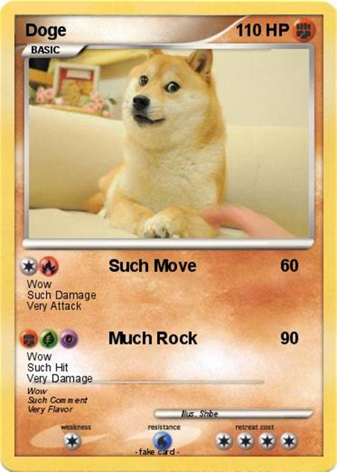 doge card pok 233 mon doge 19 19 such move my card