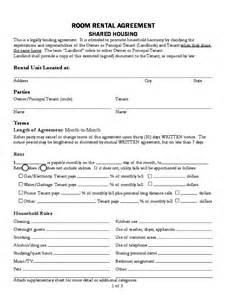 Room Rental Agreement Form Template room rental agreement business form template 187 ideas home