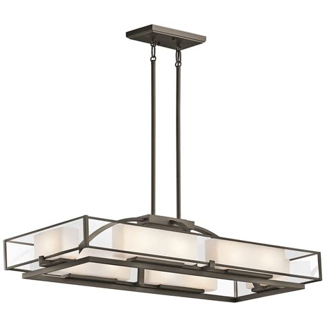 Rectangular Kitchen Island Lighting Kichler Lighting 42825oz Isola Contemporary Rectangular Kitchen Island Billiard Light Kch 42825 Oz