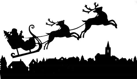 the gallery for gt santa sleigh silhouette template