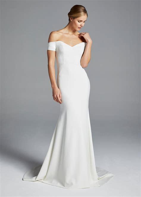 sleek  simple minimal wedding dresses