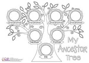 family tree template for pages blank family tree coloring pages