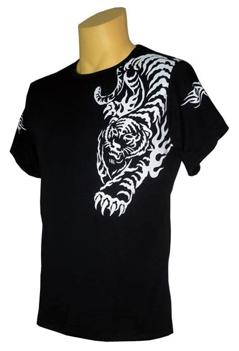 t shirt tattoo designs tiger black t shirt design
