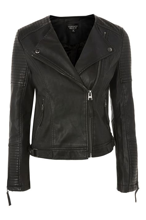 Faux Leather Jacket quilted faux leather biker jacket jackets coats
