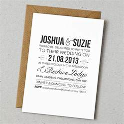 ideas to put on wedding invitations rustic style wedding invitation by doodlelove notonthehighstreet