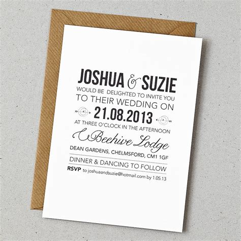 wedding invite postcard style rustic style wedding invitation by doodlelove
