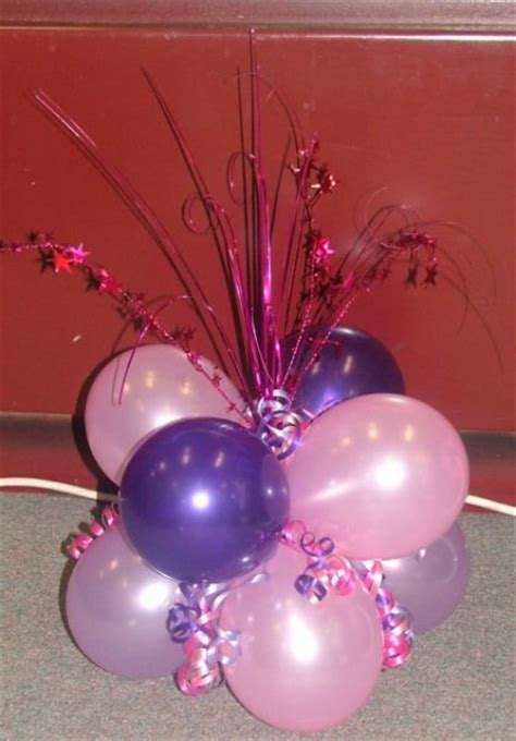 Balloon Centerpieces For Tables Cluster Of 8 Balloons Table Centerpieces With Balloons