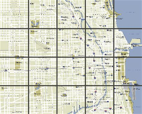 chicago map grid chicago maps area and city maps of chicago