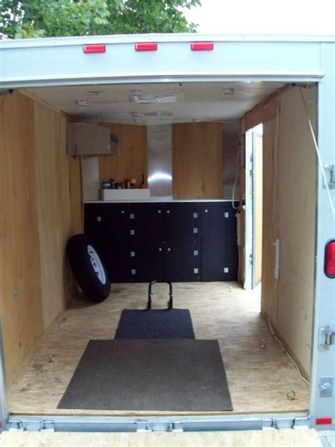 enclosed trailer cabinets for sale 6x10 enclosed trailer w 24 quot v nose aluminum frame