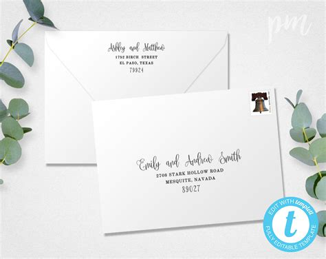 wedding envelope template address envelope template diy