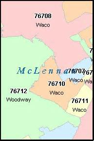Waco Zip Code Map by Waco Texas Tx Zip Code Map Downloads