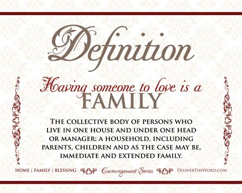definitions home family blessing
