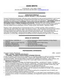 Business Unit Leader Sle Resume by Business Unit Director Resume Template Premium Resume Sles Exle