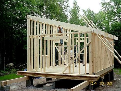 shed plans   shed roof small house plans side