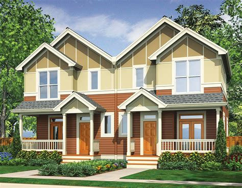 narrow lot multi family house plans narrow lot multi family home 69464am architectural designs house plans