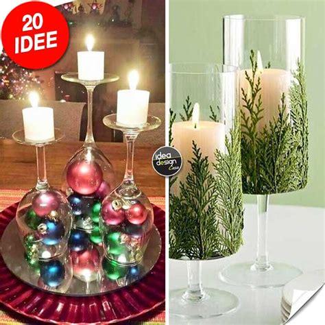 centrotavola con bicchieri portacandele natalizi con bicchieri di vetro fai da te 20