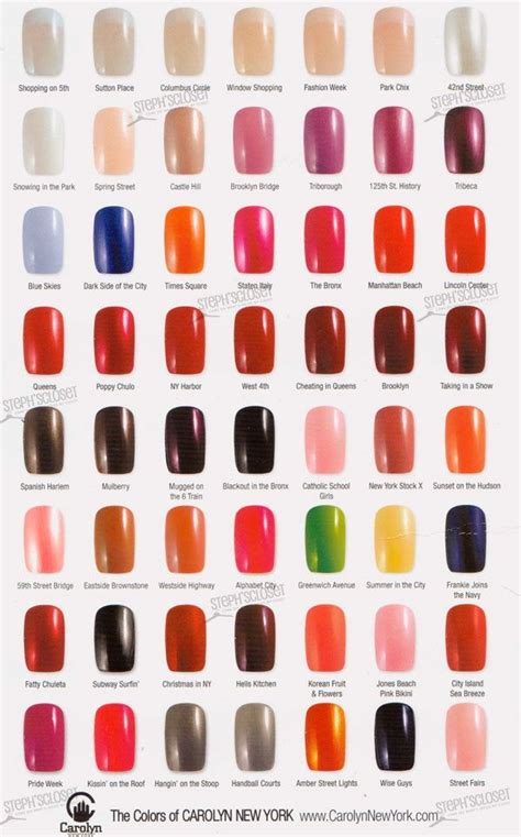 opi color chart opi nail varnish o p i nail colour charts
