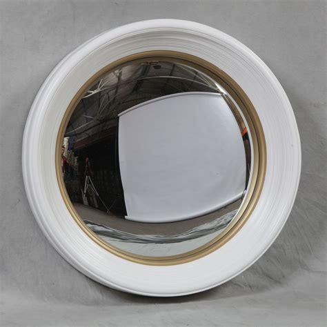 Unique Home Decor Uk large deep white framed convex mirror