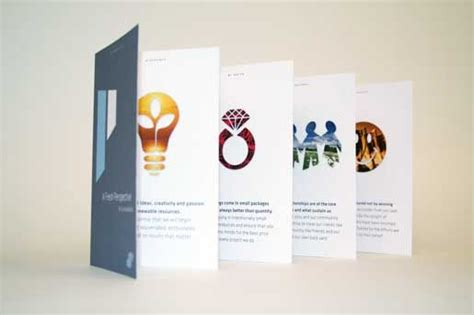 accordion fold brochure graphic design pinterest