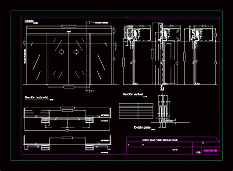 details curtin wall glass facade dwg detail  autocad
