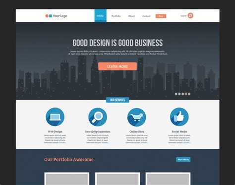 design a free website 20 new gorgeous free psd website templates website design